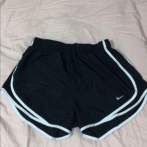 Black and white athletic nike shorts